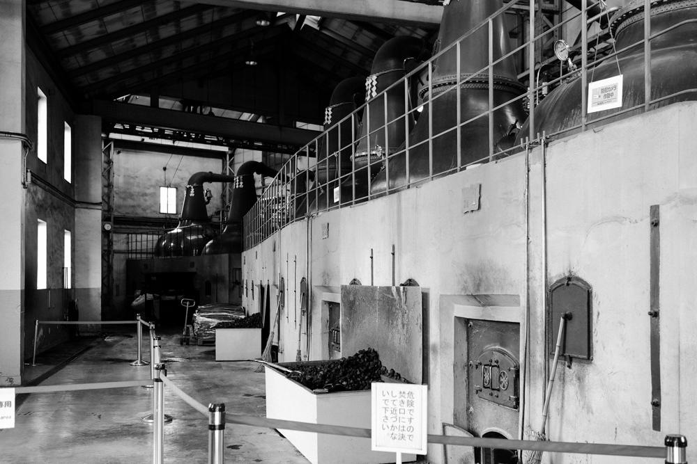 The still house is where giant copper stills are heated by coal fire, which is rare even for Scottish distilleries today.