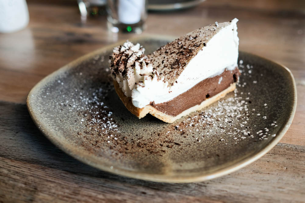 I had a hard time deciding which was my favorite, but I think I have to award that to the chocolate macadamia nut pie ($8). It's not too rich, which is perfect after a meal at Moku Kitchen.