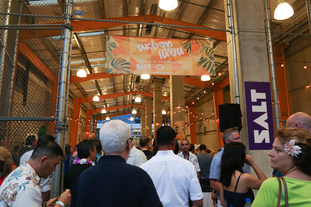 Festival goers gathered in the SALT complex in Kakaako for an evening of delicious Hawaiian food and entertainment.