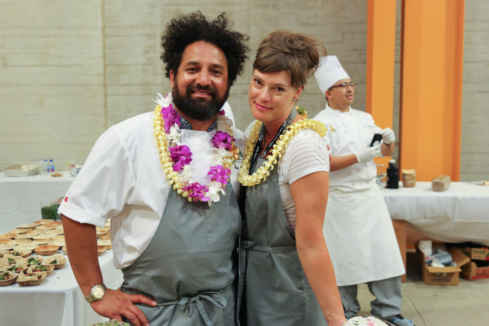 Straight from San Francisco, chef Ravi Kapur wowed us with his billfish lomi with puffed poi, sweet Maui onions and Hawaiian salt.