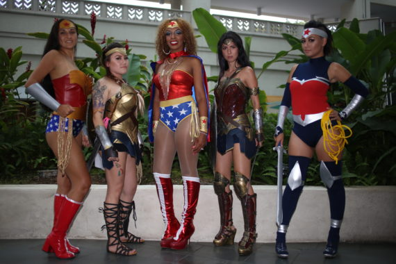 Wonder Women from Amazing Hawaii Comic Con in July 2016.