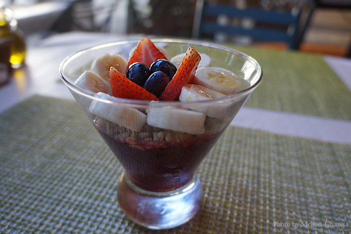 "One of the new ""petite starters"" is the coppa açai ($5) with fresh fruit and granola. For some of us, this is a full breakfast!"