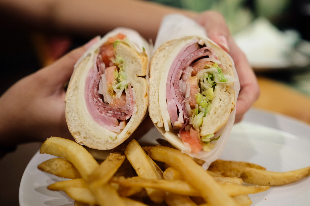 The Italian stallion ($12, comes with fries) is stuffed with meaty goodness and is a filling and satisfying lunch option. Photo by Thomas Obungen