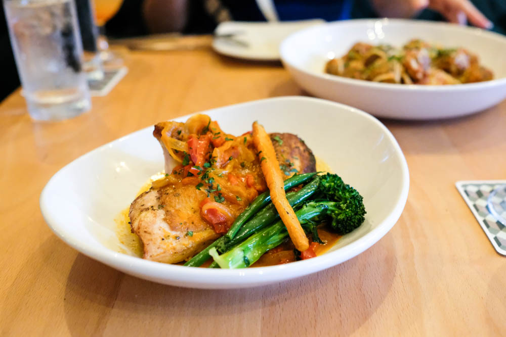 The cacciatore ($22) is one juicy piece of chicken. Marinated in lemon and pan seared with tomatoes, peppers and capers this bird was tender and delicious.