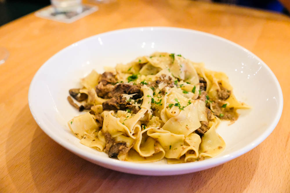 The star of the show is the handmade fresh pasta. The papardelle is every bit as comforting as a warm hug.