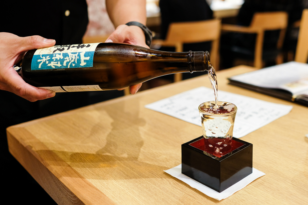 I went for a glass of the Tedorigawa Yumahai junmai ($15), a dry sake with a tiny bit of sweetness on the finish. Katsumidori's sake selection was impressive, but if you prefer to bring your own, corkage is $35 per bottle up to two bottles.