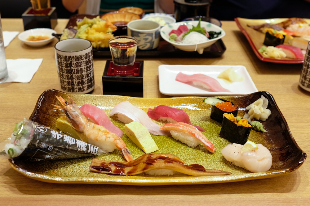 The Ozeki is a 10-piece set with a handroll for $27. That averages out to less than $2.50 a piece. Photo by Thomas Obungen