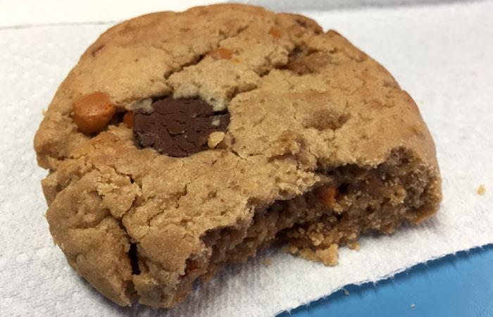 """Peanut Butter Perfection"" includes peanut butter, butterscotch chips, milk chocolate chips, caramel, pralines and Hawaiian sea salt."