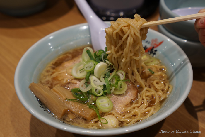 Close up of the Michelin-rated shoyu ramen.