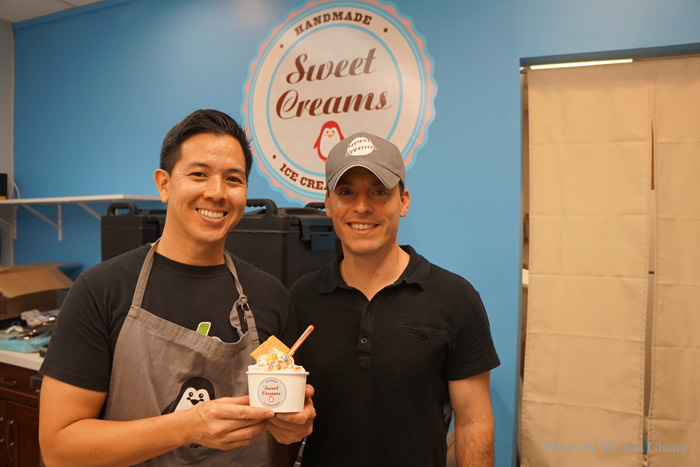 The cream team: Business partners Jeffrey Kao, left, and Bari Carroll.