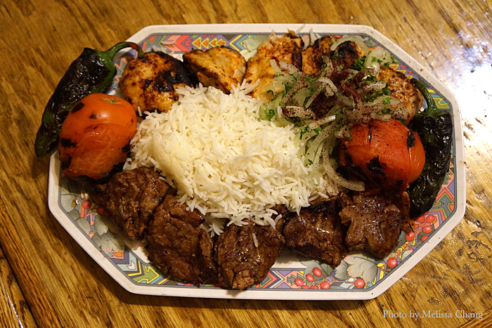 This was actually a custom combo kabob plate for Jay, but it's usually about $12.99.