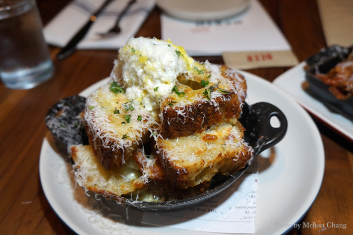 White truffle garlic bread at North Italia, $11.