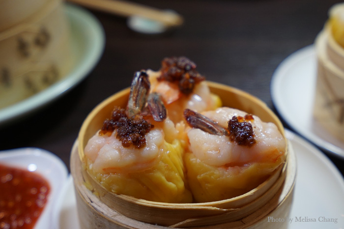 Phoenix tail shrimp shumai.