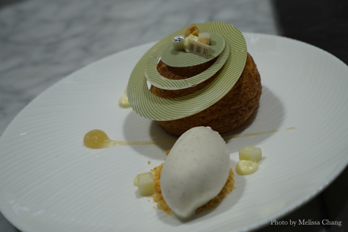 We were too full to order the apple choux, but pastry chef Vivian Wu admits it's her favorite. Maybe next time.