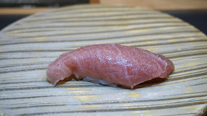 Oh what? Hana hou? I got an extra piece of nigiri, otoro — which is even fattier than the chutoro. Butter on butter on butter.