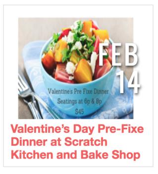 Valentine's Day Pre Fixe Dinner