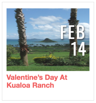 Valentine's Day at Kualoa Ranch