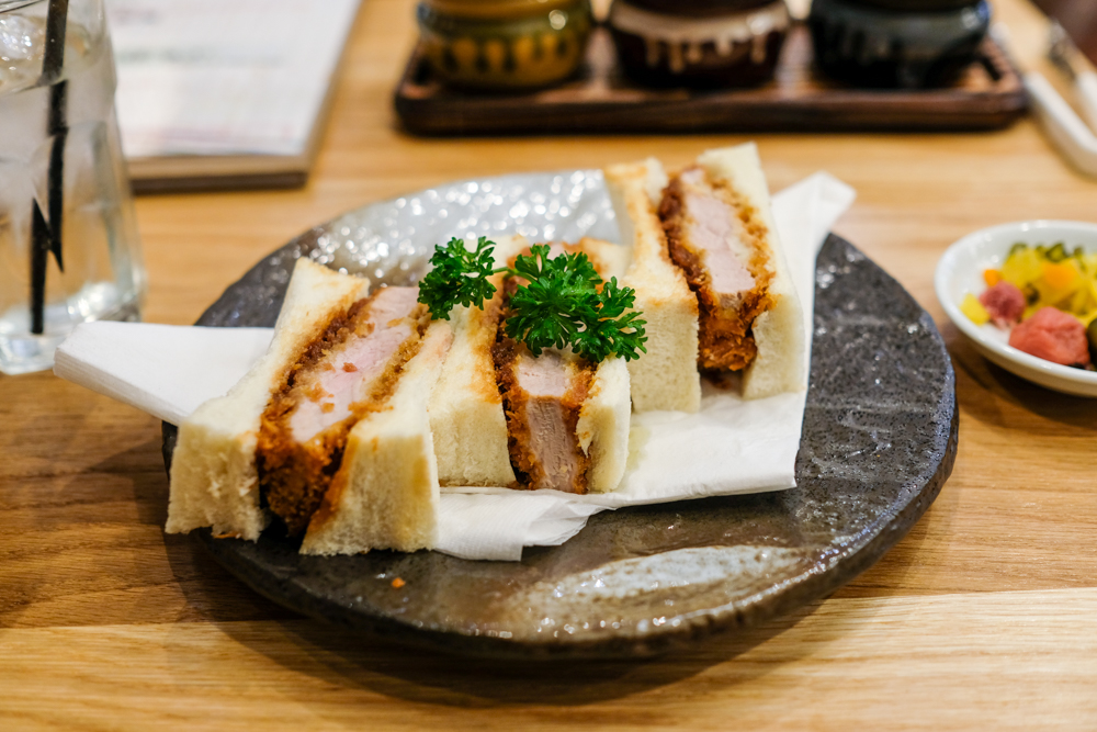 The tonkatsu sando ($10.50) uses a piece of pork tenderloin, which is almost as soft as the bread that surrounds it.