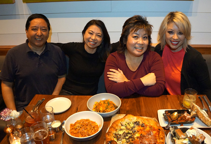 My final meal with a foodie crew, from left: Jay Terauchi, Karsha Chang, me and Kimlai Yingling.
