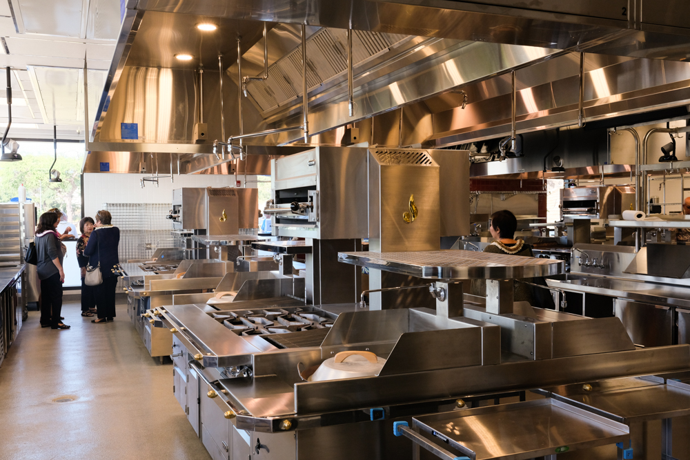 Each culinary lab is equipped with eight cooking suites where two students are assigned to each suite.