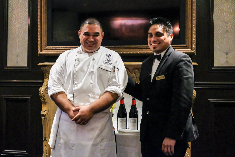 Hy's Executive Chef Justin Inagaki and Manager Jonah Galase.