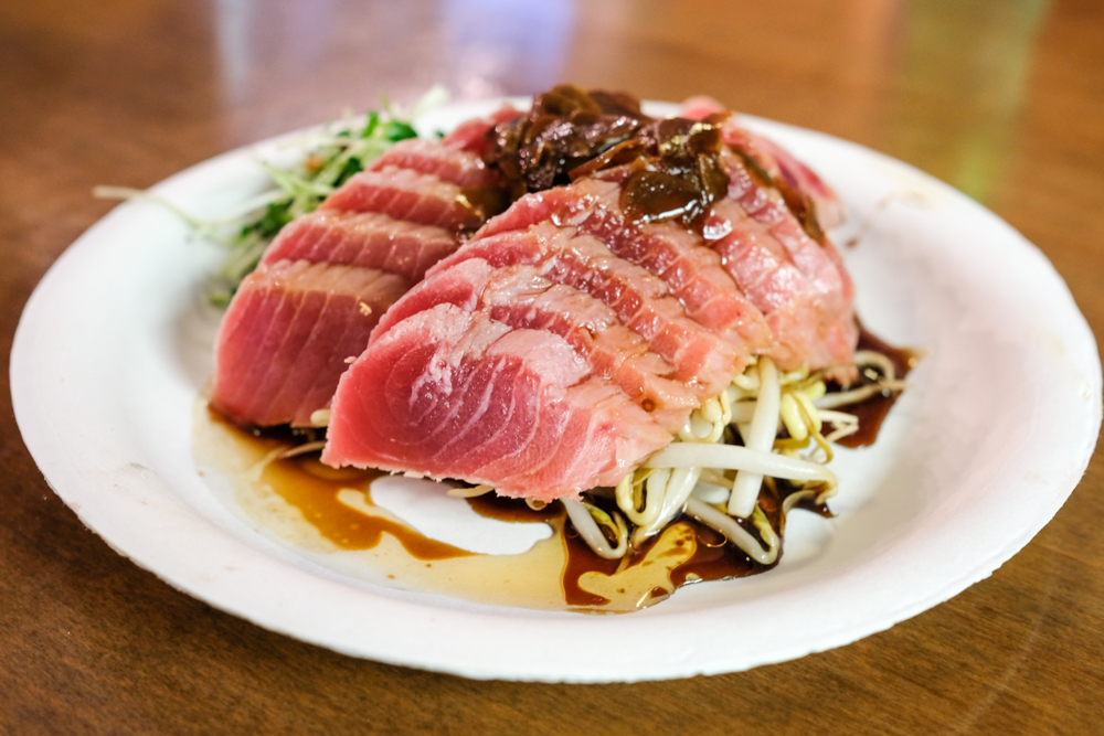 Lovers of the pungent and silky smooth ahi tataki will be glad to know it's also available at the Cafe.