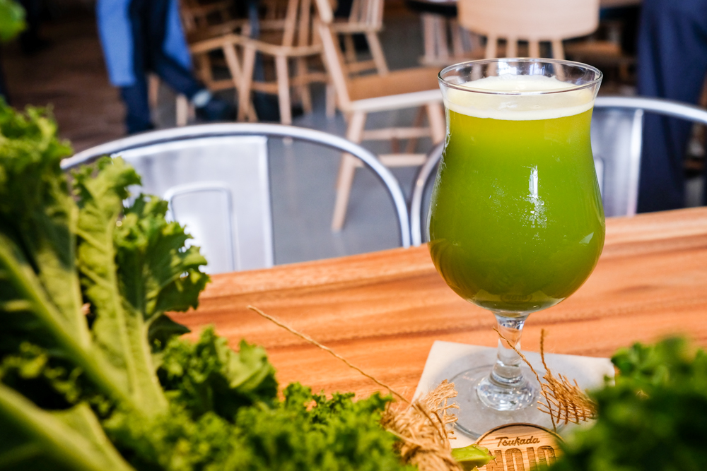 The unexpectedly delicious kale ale ($10) mixes cold-pressed kale from Aloun Farms and Maui Brewing Co's Bikini Blonde.