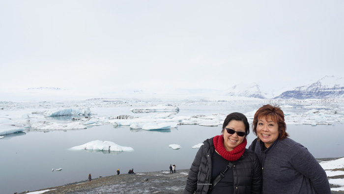 Overlooking the glacier lagoon.