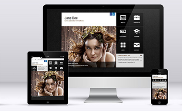 Responsive Actor Websites