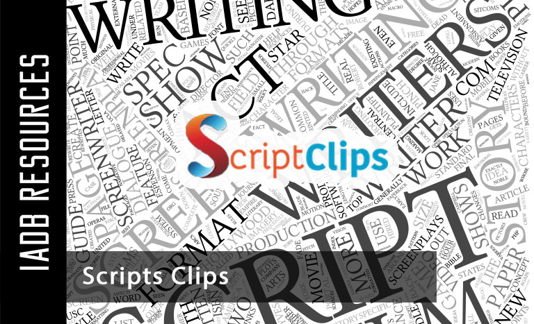 ScriptClips is an online database that catalogs thousands of sides & scenes from...