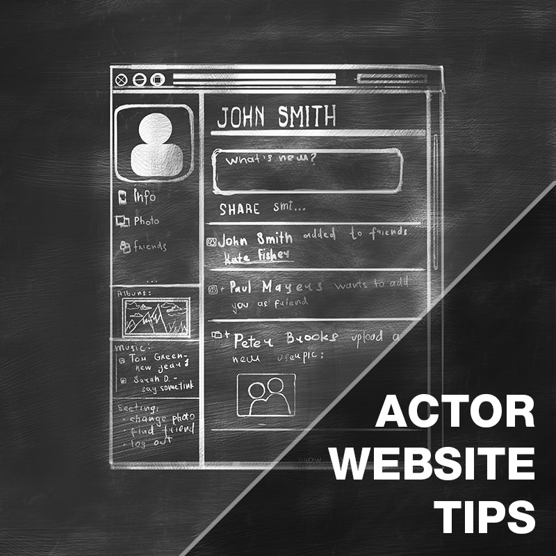IADB | Actor Website tips for actors looking to develop a website
