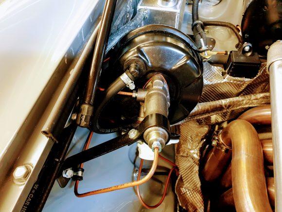 Uprated single line brake servo system
