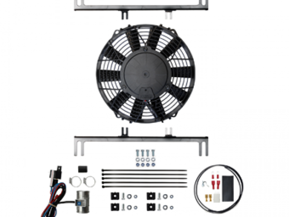 High power fan assembly with thermostatic controller and mounts