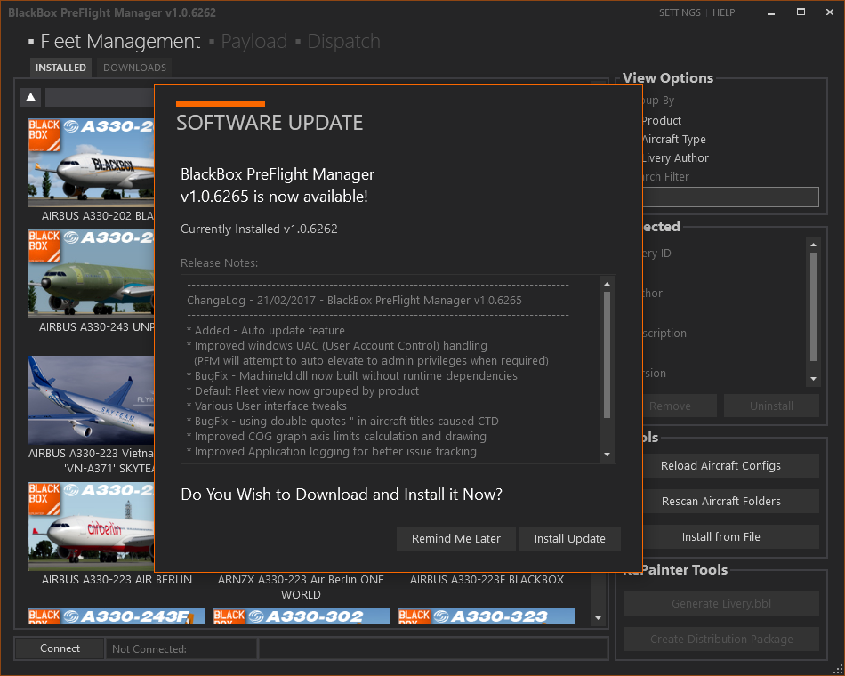 Black Box Simulation Pre Flight Manager Update Coming Soon