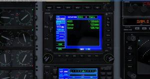 Flight 1 GNS530 DEP radio