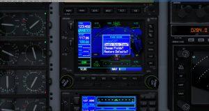 Flight 1 GNS530 menu