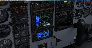 Flight 1 GNS530 turn warning