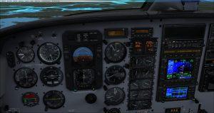 Flight 1 GNS530 Glideslope captured