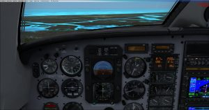 Flight 1 GNS530 On course on Glideslope