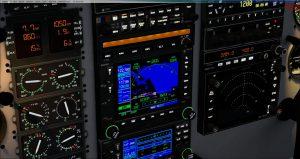 Flight 1 GNS530 Panel Light on