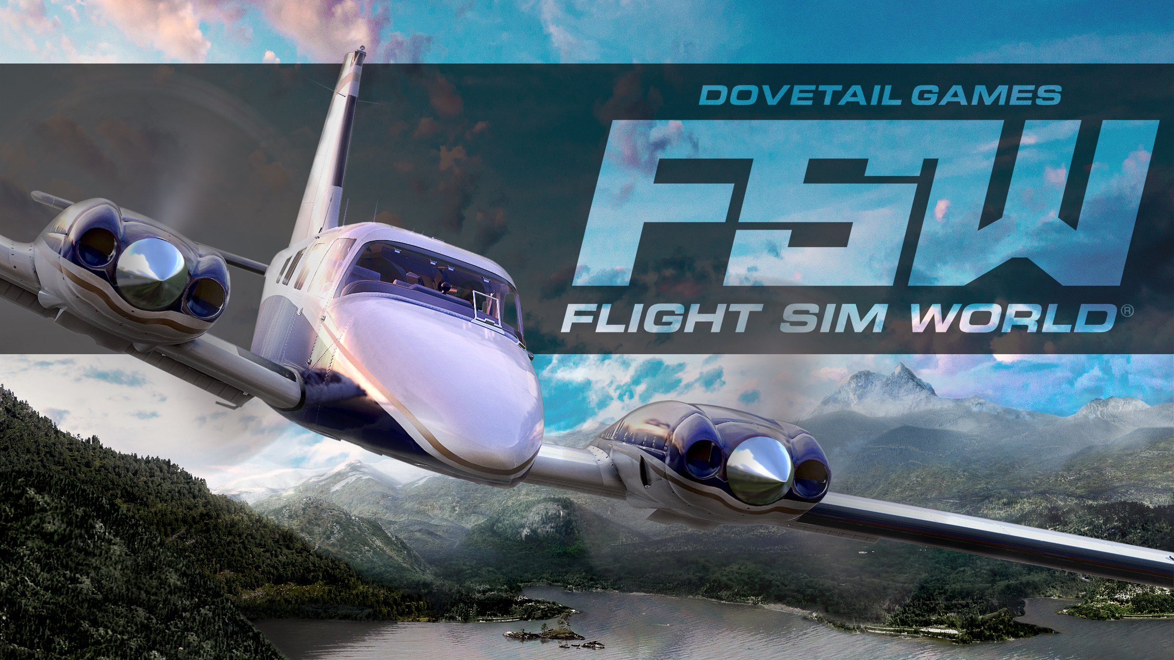 DTG Flight Sim World Logo
