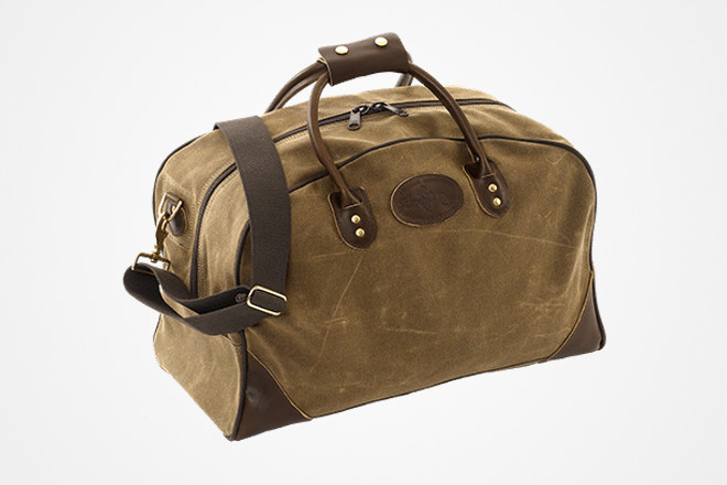 Frost River waxed canvas flight bag