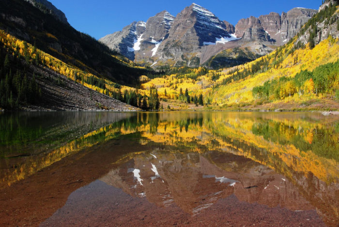 Maroon Bells in the fall.