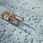 Sled on snow