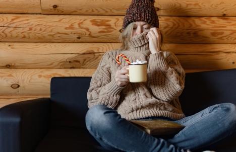 Cold Woman in Livingroom