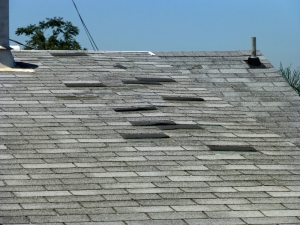 Damaged Shingles on Roof