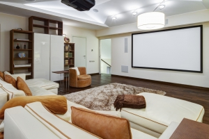 Home Theater with Projection Screen