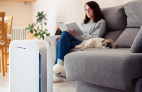 Home Air Purifier At Work