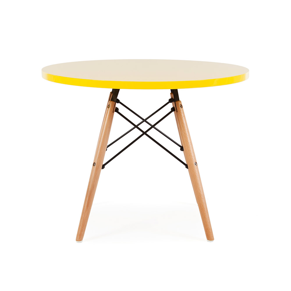 Eames style mid century modern round top dsw wood legs for Table eames dsw