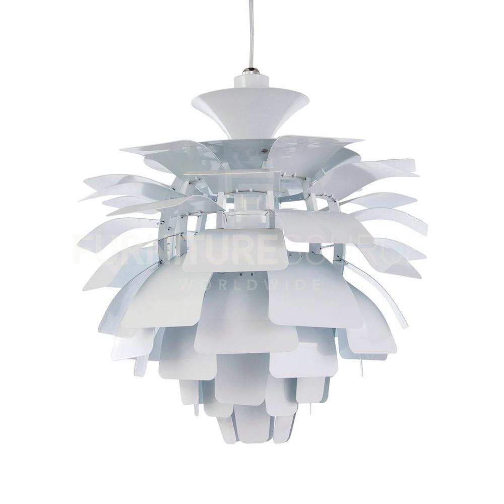 Mid Century Modern Ceiling Fan: Poul Henningsen Style Mid Century Modern Artichoke Pendant